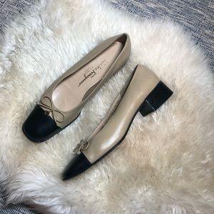 Salvatore Ferragamo blocked color heels sz 10